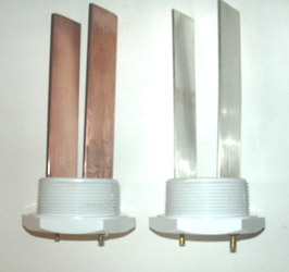 Pair of copper, pair of silver electrodes